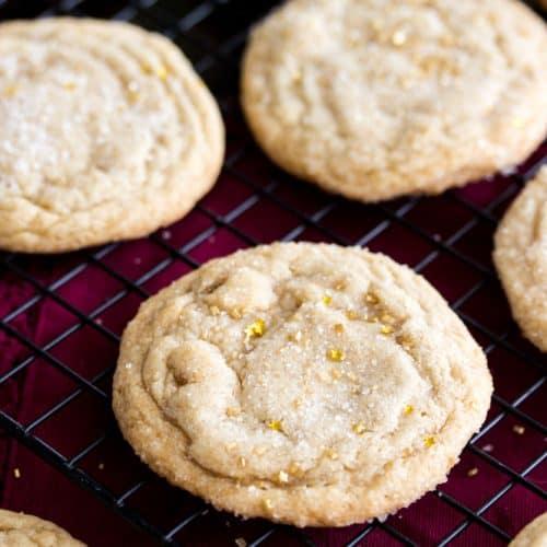 Maple brown sugar cookies on cooling rack