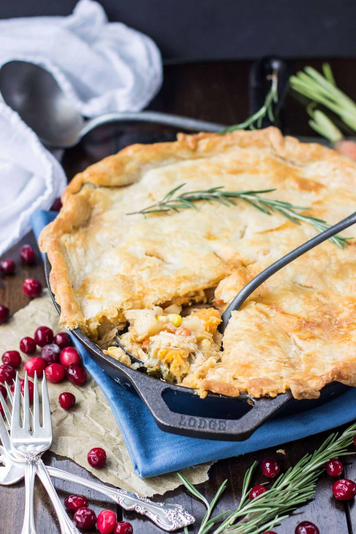 Turkey Pot Pie Great For Leftover Turkey Sugar Spun Run