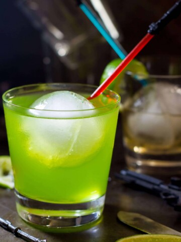 Star wars green drink in a glass