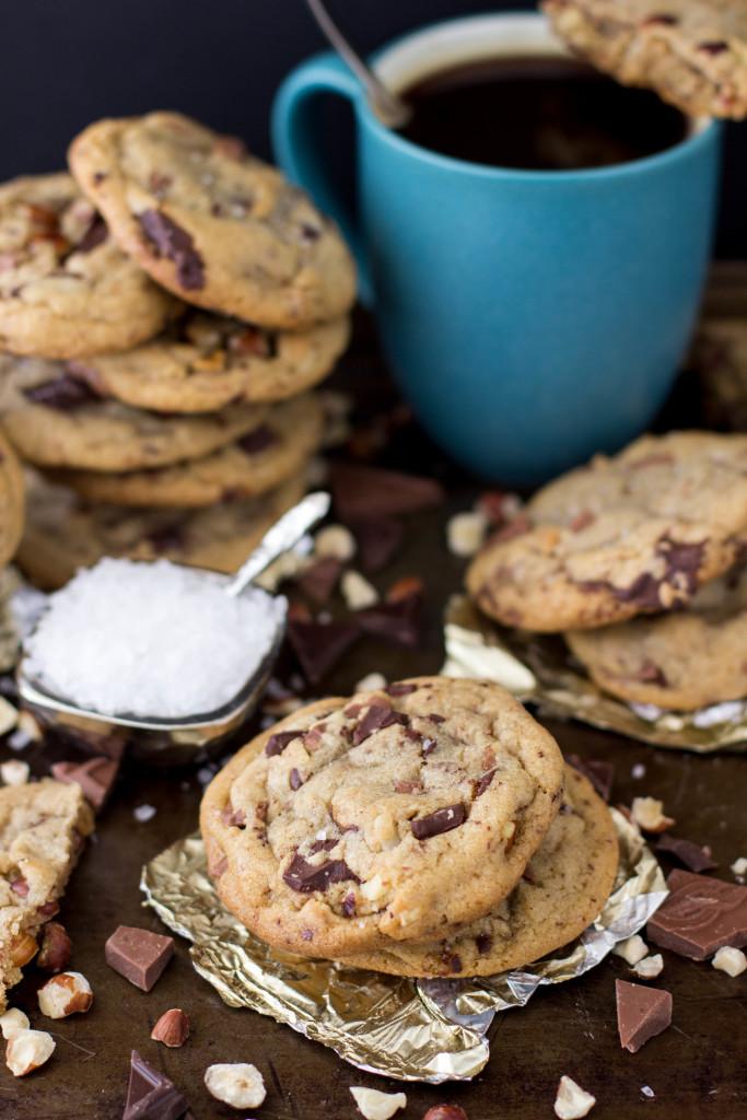hazelnut chocolate brown butter cookies-11