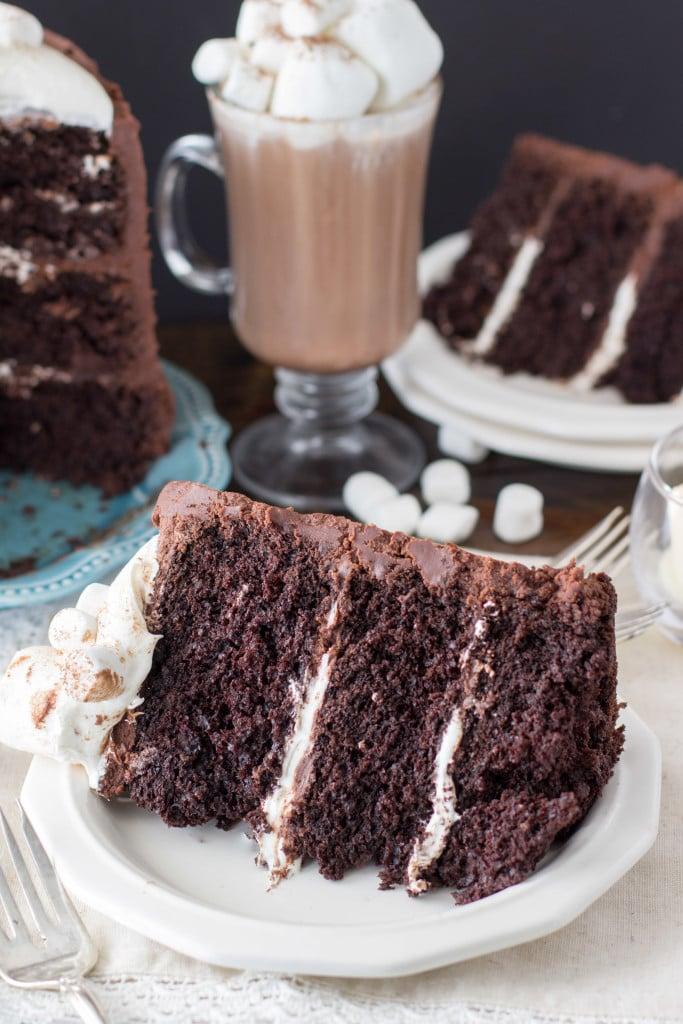 hot chocolate cake -- rich chocolate cake recipe -- SugarSpunRun