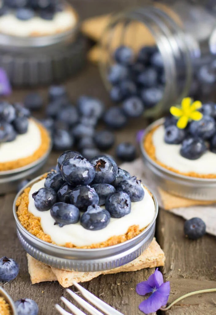 Easy Lemon Blueberry Tarts (In Mason Jar Lids)