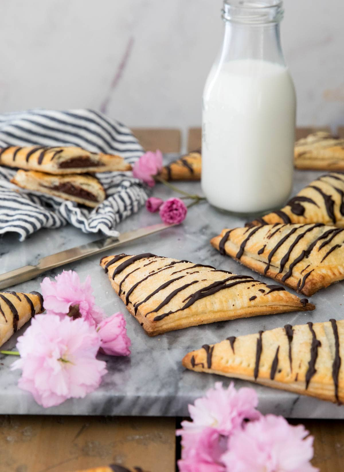 turnovers on marble tray