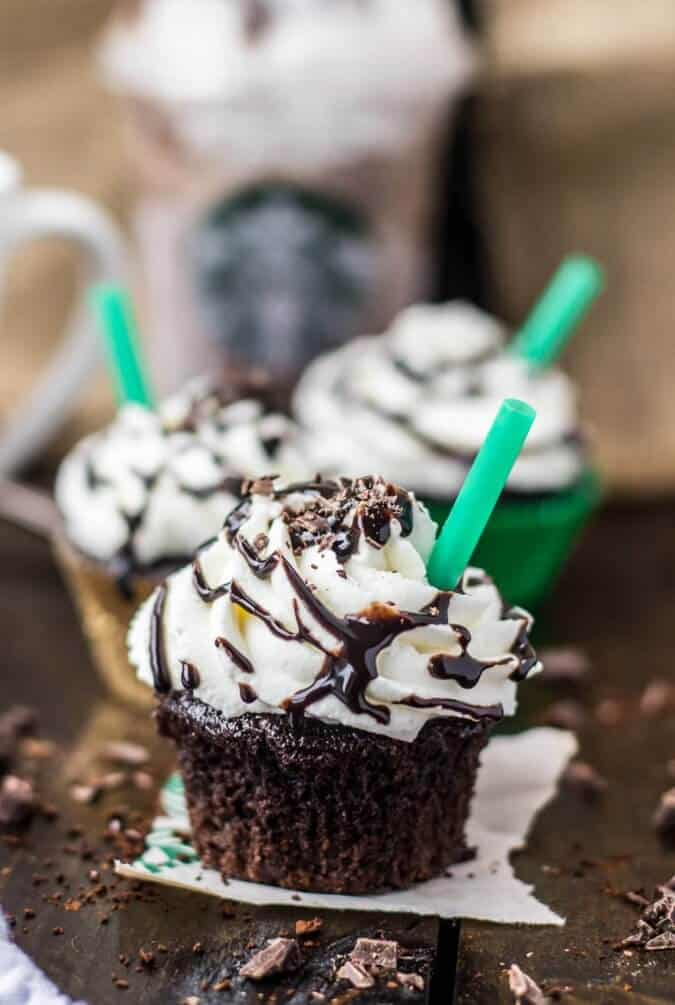 Starbucks double chocolate chip frappuccino cupcakes