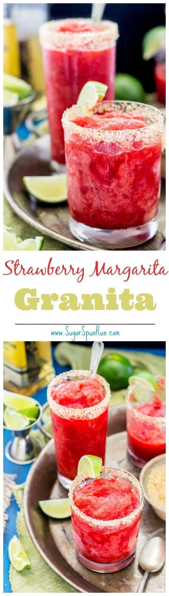 Strawberry Margarita Granitas -- it's like an adult snowball!
