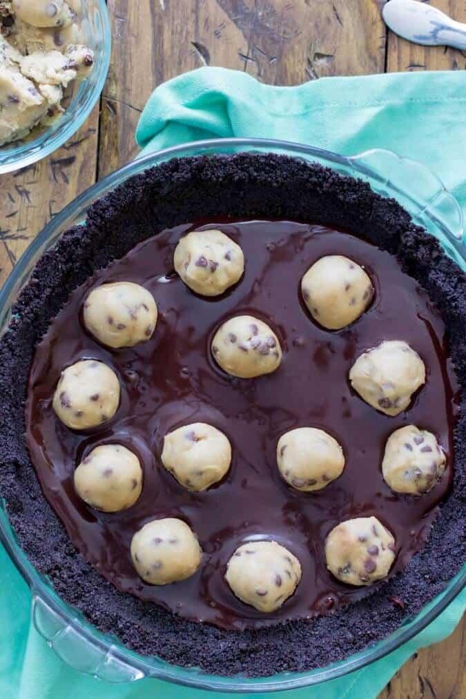 No Bake Cookie Dough Pie