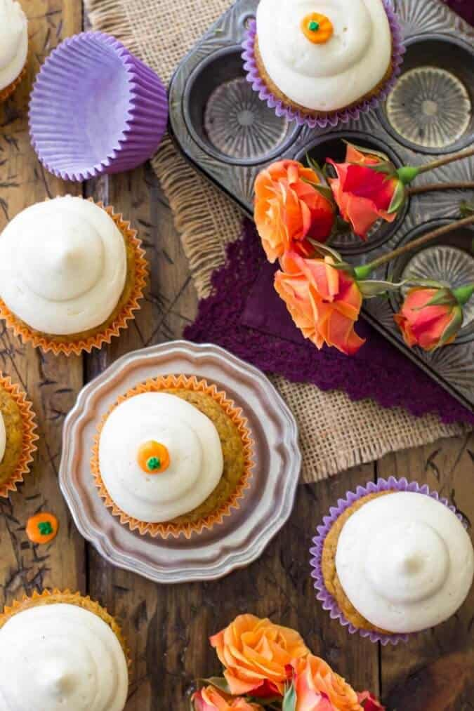 Pumpkin Cupcakes -- These are amazing! Soft, buttery, absolutely perfect!