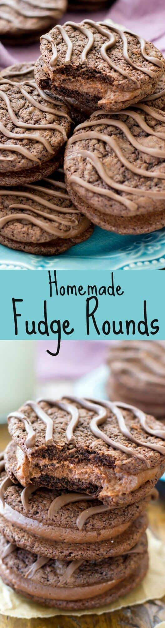Chocolaty Homemade Fudge Rounds!