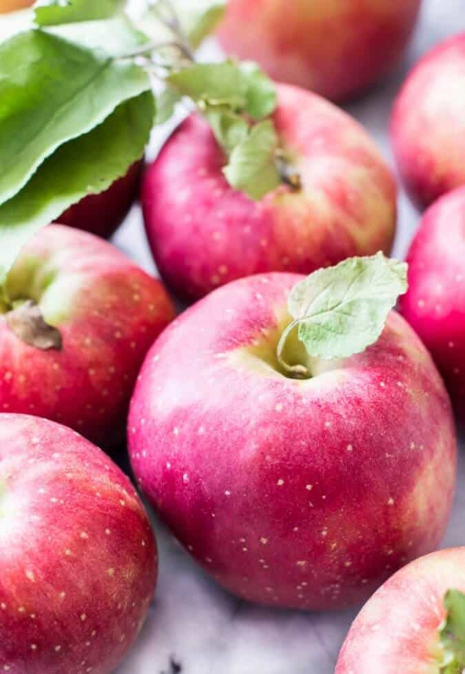 Apples for my favorite apple pie -- made with sour cream    Sugar Spun Run