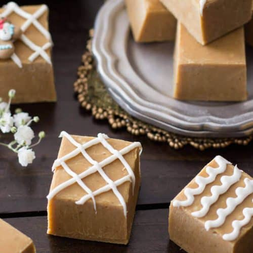 Gingerbread fudge squares