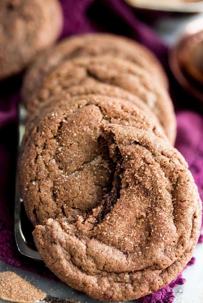 Chocolate Snickerdoodles -- these are amazing! || Sugar Spun Run