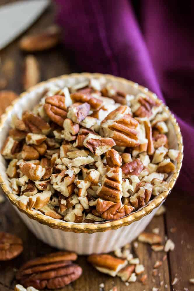 Cup of chopped pecans