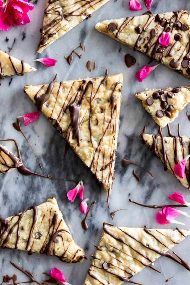Sweet, snappy chocolate chip cookie brittle -- a unique cross between cookie and candy!