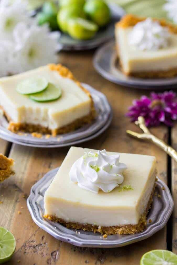 Sweet, creamy, and tart Key Lime Pie Bars || Sugar Spun Run