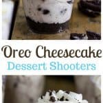 Oreo cheesecake dessert shooters