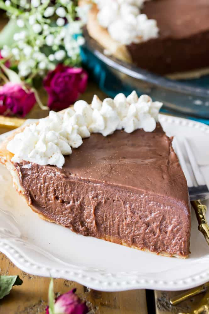 Creamy Chocolate Pie Recipe, completely from scratch || Sugar Spun Run