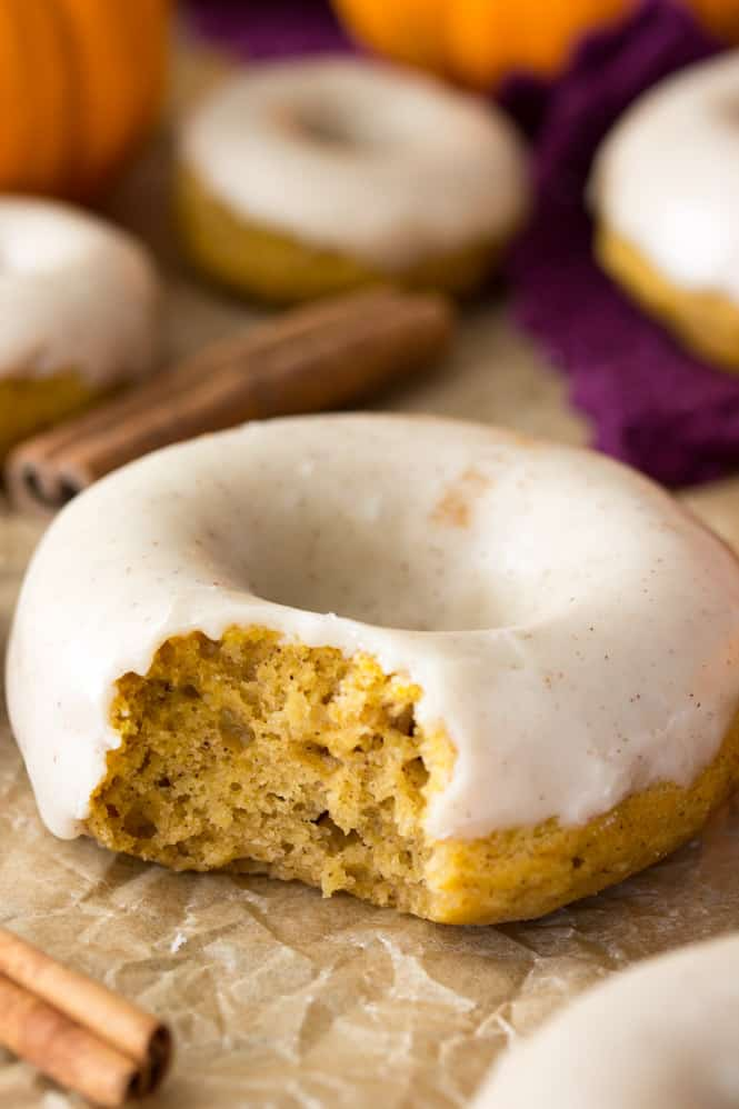 Glazed pumpkin spiced donuts
