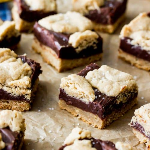 Peanut butter fudge bars