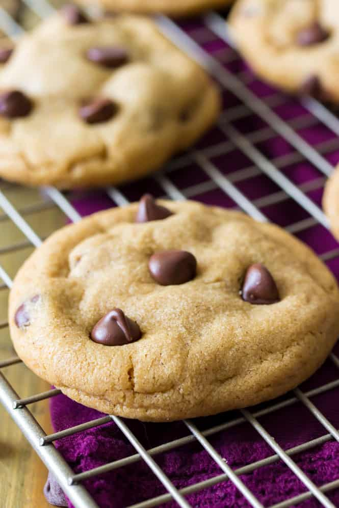 Freshly baked cookie butter chocolate chip cookie