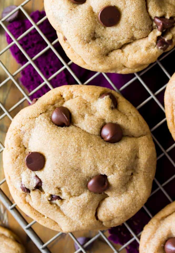 Cookie Butter Cookies cooling on a metal rack