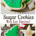 Sugar Cookies with Easy Frosting