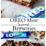 Oreo Mint Layered Brownies