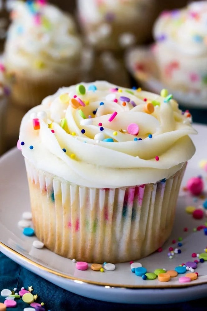 The very best confetti cupcakes recipe