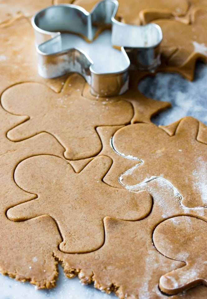 How to make gingerbread men -- cutting out cookies