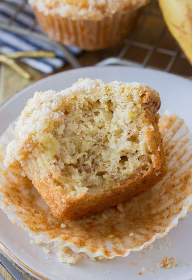 Soft banana muffins