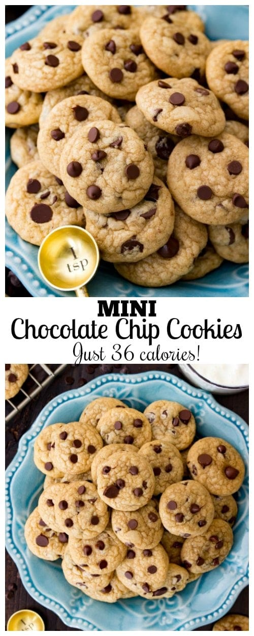 Mini Chocolate Chip Cookies (just thirty-six calories)