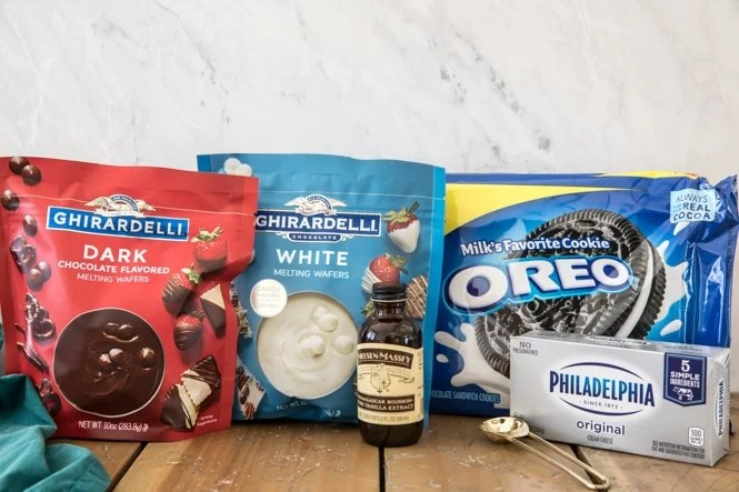 Ingredients for Oreo Truffles