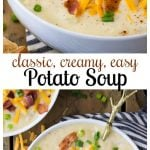 potato soup in white bowl