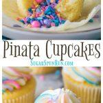 Piñata Cupcakes