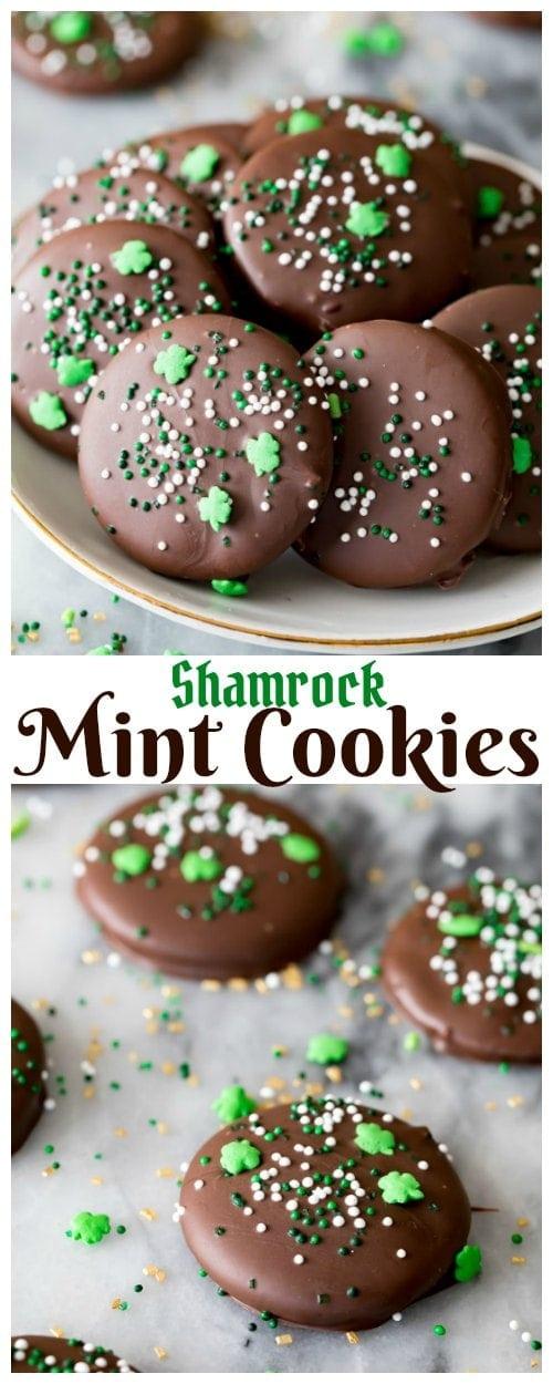 Shamrock Mint Cookies