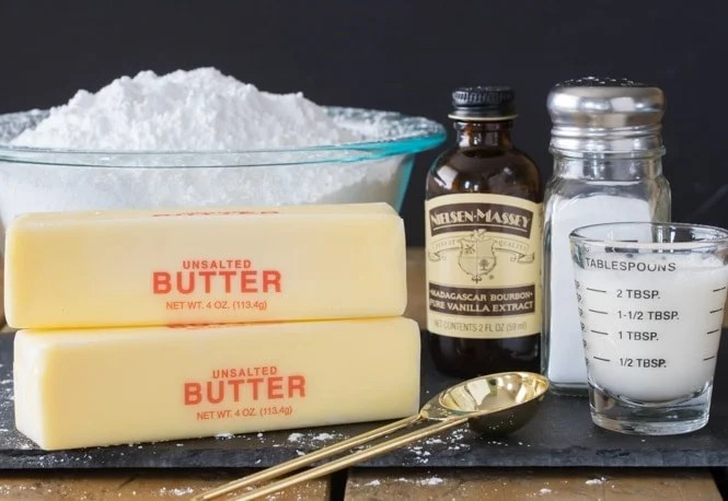 The 5 ingredients needed to make vanilla buttercream