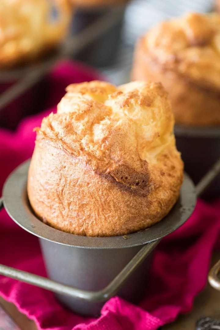 Large popover bursting out of pan