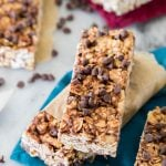 Granola bars stacked