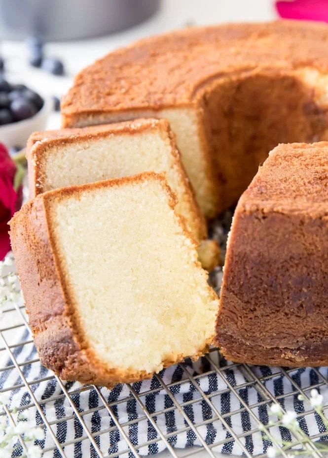 Slices of the best pound cake