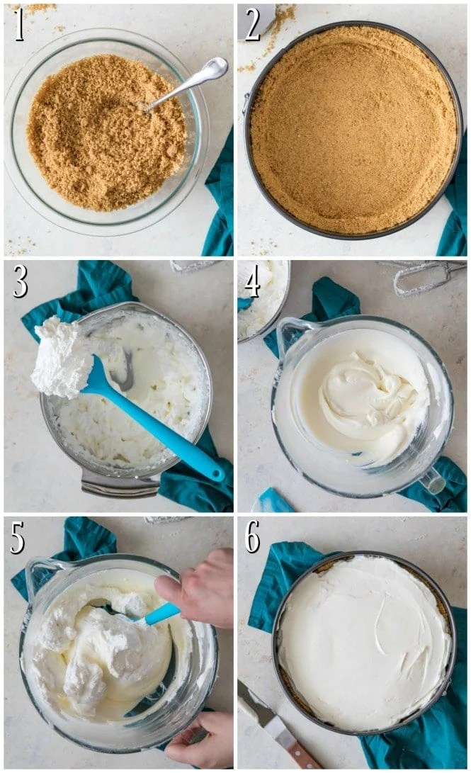 How to make no-bake cheesecake, step-by-step photos