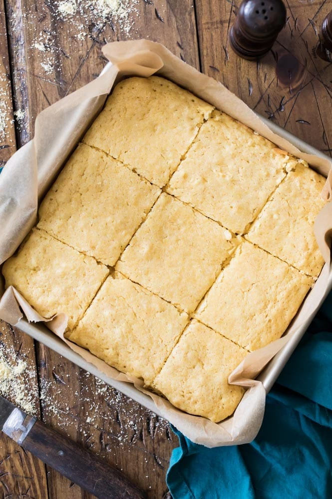 Freshly baked buttermilk cornbread