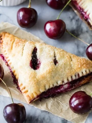 Cherry cheesecake turnover