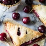 Cherry cheesecake turnovers