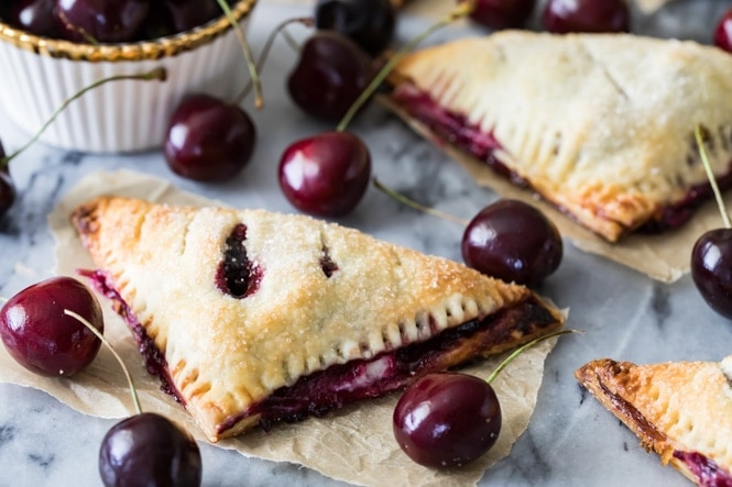 Cherry Turnover after baking