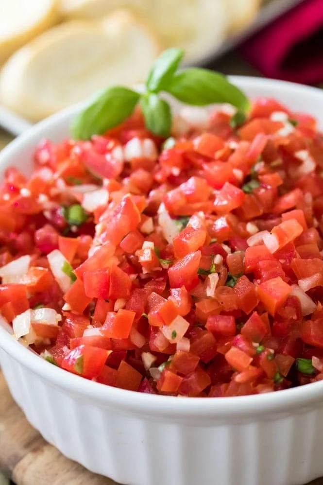 Bowl of Bruschetta recipe