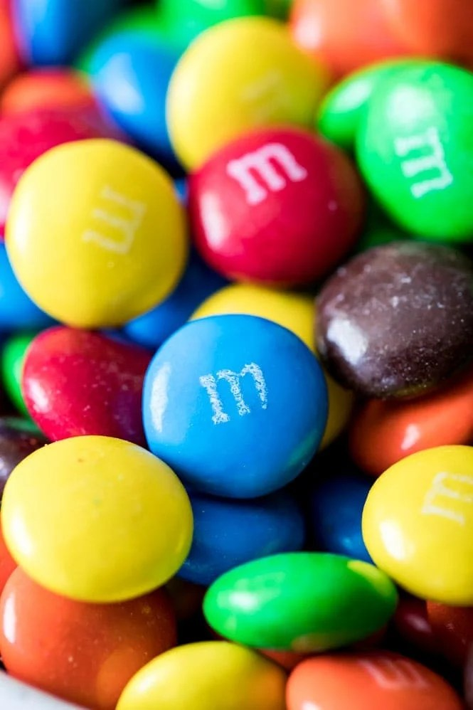 Bowl full of M&Ms for cookies