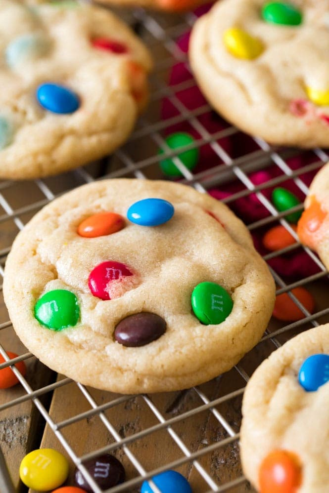 M&M Cookie cooling on rack