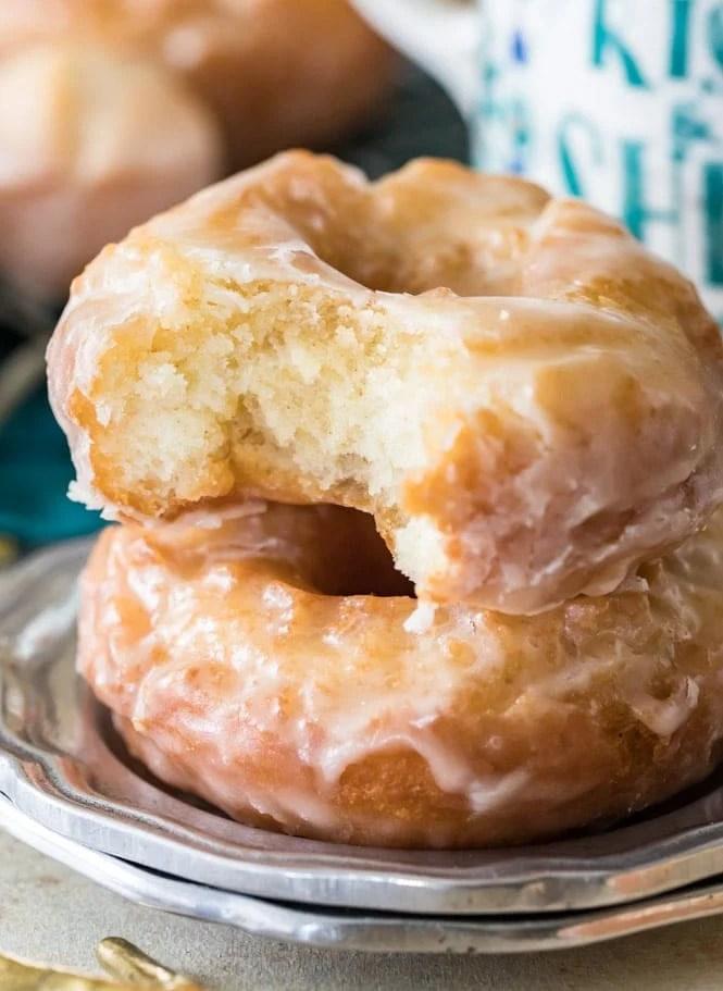 Interior of a sour cream donut