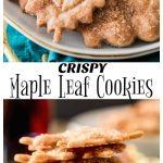 Crispy Maple Leaf Cookies