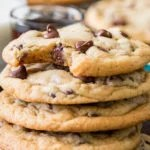 Stack of worst chocolate chip cookies