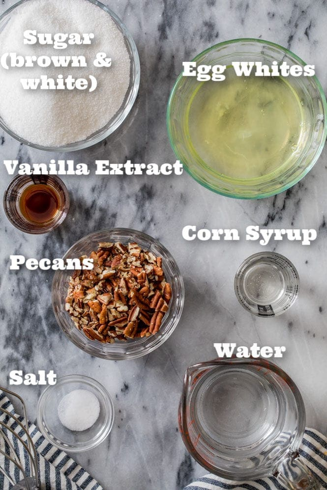 Ingredients needed to make Seafoam candy